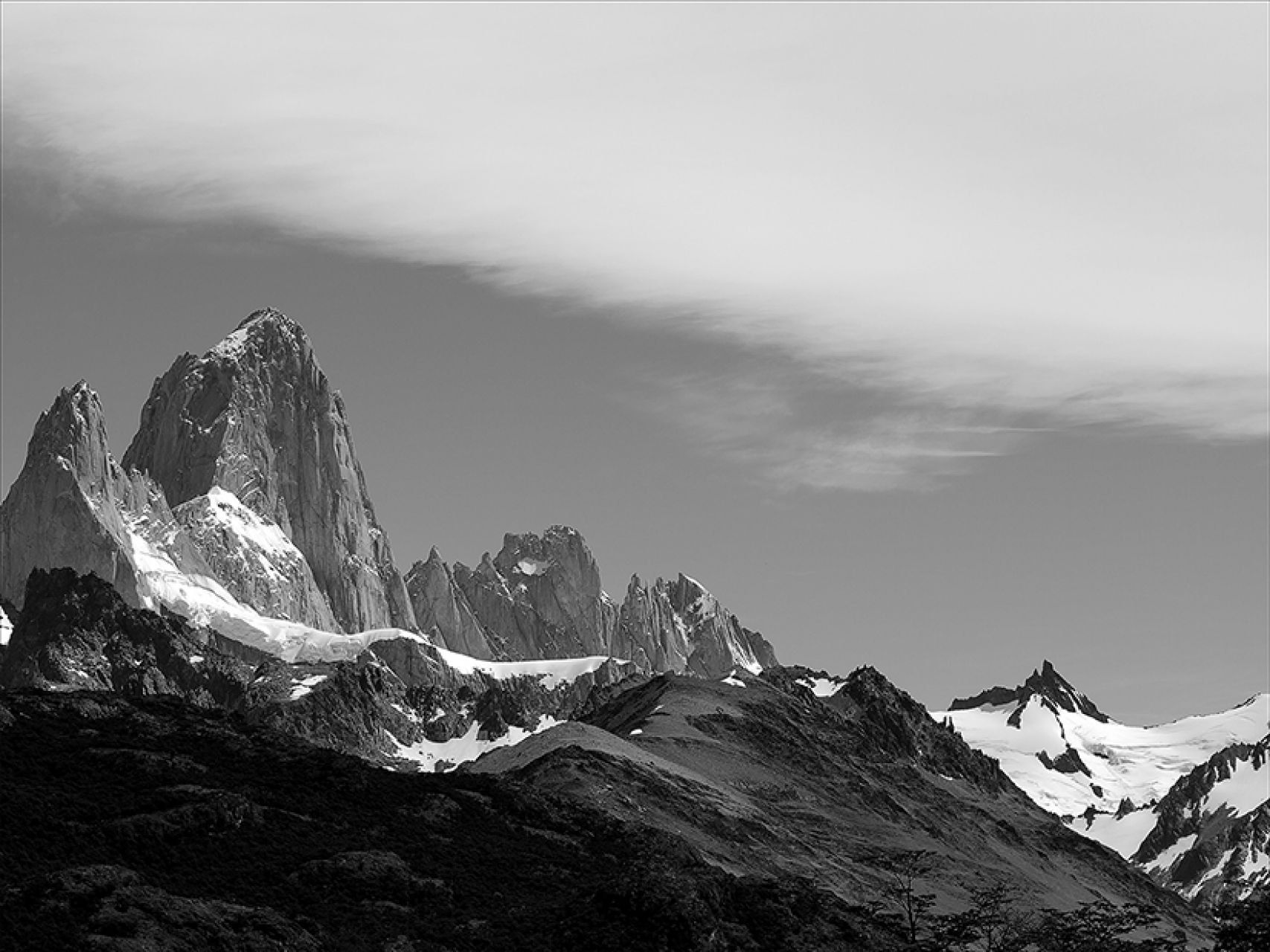 Mt. Fitz Roy with Cloud (67 x 110)